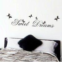 Sweet Dreams Wall Stickers Bedroom Decoration Diy Home Decals Quotes Mural Arts Printing Pvc Poster