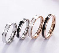 Europäische und amerikanische Vintage-Liebes-Ring-Paar-Modelle 316L Titan-Stahl-Ring-Paar-Rosengold-Silber-Hochzeitsringe für Frauen