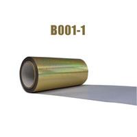 شحن مجاني 1 ورقة 25cmx100cm نقل الليزر الذهب الهولوغرام الحرارة الفينيل الحرارة الصحافة آلة تي شيرت حديد على HTV الطباعة
