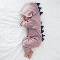 Neue Baby-Mädchen Ein Stück Langarm Zipper Dinosaurier Strampler Kinder Climbing Cartoon Kleidung Kinder 6-18 Monate