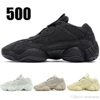 2019 Utility Black 500 Running Shoes Hombres Mujeres Colorete Super Moon Amarillo Sal Zapatos de diseñador Desert Rat 500 Sport Sneakers 36-46