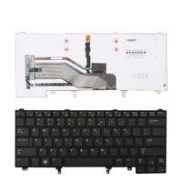 Englisch-Tastatur für Dell Latitude E6420 E5420 E6220 E6320 E6430 BLACK (mit Punkt-Stick, BLUE Druck, Backlit) Reparatur Tastatur US-Plan