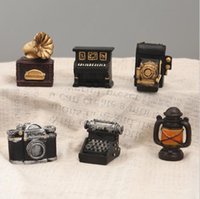 6pcs lot Mini Retro Camera, piano, typewriter, phonograph, v...