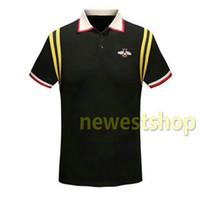 Verão 2020 homens roupas de marca designer de tecido stripe impressão da camisa do t de moda polo bordados abelha tshirt mulheres colarinho casuais turn-down tshirt