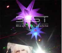 파티 이벤트 나이트 클럽 무대 장식을위한 LED 라이트와 에어 스타 hangling 높은 품질 사용자 정의 색상 풍선