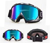 Взрывозащищенные мужчины и женщины лыжных очки анти-твист анти-падение ветрозащитных очков пыленепроницаемого Мотоцикла Внедорожных очков большого поле зрения