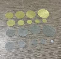 seçim için 100pcs / lot sigara boru ekranları filtre altın pirinç paslanmaz çelik gümüş boru ekran filtreleri 25.4mm 5mm
