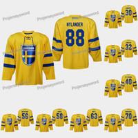 السويد وليام نيللاندر 2019 بطولة العالم IIHF جيرسي هنريك Lundqvist Skar Lindblom Elias Pettersson Erik Gustafsson Jesper Bratt