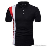 Mens Summer Designer Printed Polo Cotton Short Sleeve Sports Tees Fashion High Street Quickly Dry Clothing