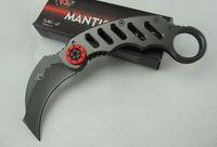 mantis Media Luna garras cuchillo de la garra de Karambit del cuchillo de hoja fija Cuchillos de caza de supervivencia acampar 1pcs regalo de Navidad