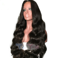 Brazilian Virgin Loose Wave Full Lace Wig Natural hairline G...