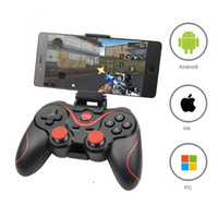 Inalámbrica Bluetooth 3.0 del regulador del juego Terios T3 / X3 para PS3 / Smartphone Android Tablet PC con la TV cuadro titular T3 + Gamepad remoto