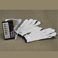 Раб тренер БДСМ электрическим током серебряные волокна терапии перчатки бондаж передач электро шок перчатки для взрослых игры секс продукты игрушки Фо