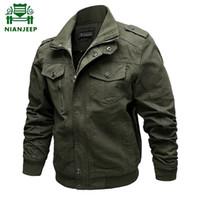 Ceket Erkekler Marka Casual Adam Ceketler Ordu Bahar YENI 2019 Erkek Yeşil Haki Kış Kargo Artı boyutu chaqueta hombre 6XL