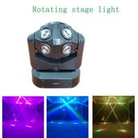 Party Lights Портативное лазерное сценическое освещение движущейся головной луча DJ RGBW лампы стробосков звук активирован для вечеринок в номере
