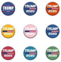لوازم 16Sstyles 2020 ترامب راية شارة ترامب دبابيس دونالد أمريكا مرة أخرى العظمى شارة ترامب انتخابات حزب شارة GGA3221