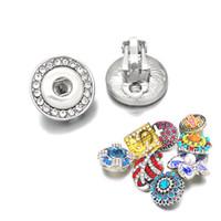 Мода 024 Кристалл Стразы сердце 12mm Snap кнопки серьги женщин Подвески Белый K гальваническим дизайн серьги ювелирные изделия женщин подарков
