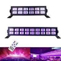 36w 54w 12leds 18LED 72W 24LED DMX 512 DJ LED UV 무대 가벼운 바 크리스마스 실내 무대 효과 빛을위한 검은 파티 클럽 디스코