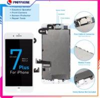 Ekran iphone 7 7 artı 8 8 artı LCD tam set ekran ön kamera ile Dokunmatik Digitizer değiştirme + kulaklık hoparlör AAA