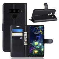 lychee wallet leather PU TPU phone Case For LG G7 fit Q7 V50...