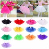 Baby-Ballettröckchen-Rock-Prinzessin Dance Party Tulle Skirt Fluffy Chiffon- Rock-Mädchen-Ballett-Tanz-Abnutzungs-Partei-Kostüm-Baby-Kleidung Freies Verschiffen