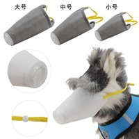 Pet Dog Respirer Valve Filtre Masque anti-buée 3 Ply gris blanc pour les chiens Anti Smog Masques pour animaux Multilayer protection Fit Accessoires pour chiens