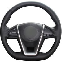 Schwarze Naturleder-Auto-Lenkrad-Abdeckung für Nissan Lannia 2015 Maxima 2016