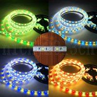 12 V 5050 RGBW RGBWW LED Esnek Şerit Işık Bant Şerit 5 M 300 LEDS 600 LEDS RGB Renk Değişimi + Beyaz Sıcak Tek Çift Sıralı IP20 IP65 IP67