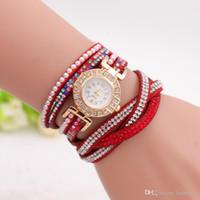 Luxo pulseira de relógio de quartzo strass cristal relógio de pulso das mulheres se vestem de relógio