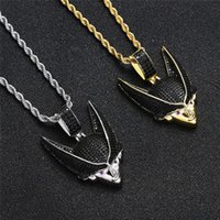 18K Gold Plated Anime Character Pendant Necklace Iced Out Zircon Mens Hip Hop Jewelry Gift