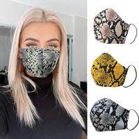패션 레오파드 프린트 페이스 마스크 디자이너 마스크 세척 가능한 방진 호흡기 타기 사이클링 여성 마스크 필터가있는 입 마스크 인쇄