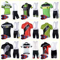 SCOTT equipe Ciclismo Mangas Curtas jersey conjuntos de bermudas Atacado 9D gel pad Top Marca de Qualidade Da Bicicleta sportwear U82107