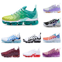 nike air vapormax plus tn 2019 HOT New designer TN Plus chaussures de sport pour femme blanc rose violet fille raisin femmes sport baskets de sport en plein air EUR 36-40