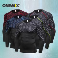 Onemix 2019 recién llegado de secado rápido para hombre trajes deportivos, fitness, jogging, trajes, ropa deportiva, traje de entrenamiento integral, hombres corriendo