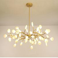 Moderne Lustres Luciole Lustre Éclairage Pour Salon nordique Lustre Luminaire luminaires industriels G4 Ampoules