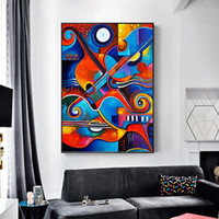 1 Panel Abstract Art Colorful Guitar For Living Room Wall Ar...