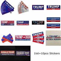 Donald Trump Araç Karoseri Araç Paster 14Styles CYZ2589 için 2020 Araba Etiketler 7.6 * 22,9 cm Tampon etiketi Tut Make Amerika Büyük Çıkartması