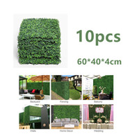 10PCS 60 * 40cm ARTIFICIAL TILE HEDGE RASEN Rasenflor UV-PROOF GREENERY PLANT Paneelwand SCREEN