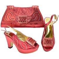 Italienisch-Schuh mit passender Tasche für Party mit Steinen Hochzeit Schuhe und Tasche Set-Qualitäts-Frauen-Pumpen-Frauen-Schuhe Heels