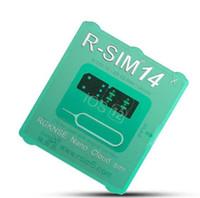 Najnowszy RSIM14 iPhone Unlocking Smart R-SIM Card RSIM 14 dla iPhone Xmax iPhone8 iPhone 7 plus i I6 Odblokowany IOS 12.x-7.x 4G Odblokuj