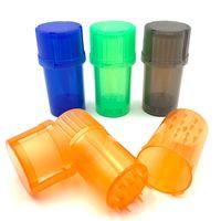 Barato Plastic Herb Millinder MultiFUNCIÓN Tabaco Spice Triturador 42mm Diámetro Grolilador de 3 piezas Fumar Muller Gratiler con contenedor