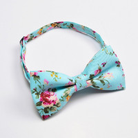 Ikepeibao Men' s Green Bow Tie Cotton Yellow Floral Neck...