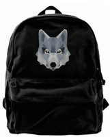 Cartoon Husky Face Canvas Shoulder Backpack Cute Backpack Fo...