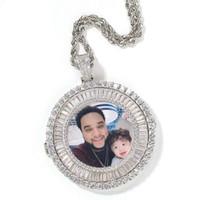 iced out custom picture colares pendulares Homens Mulheres Hip hop designer de luxo diamond personalizar fotos pendentes Casal Jóias de família presente de amor