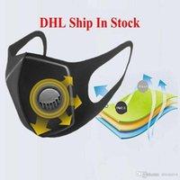 Свободный DHL корабль пыленепроницаемый маска дыхательный клапан Губка Маска моющийся многоразовый Anti-Dust туман РМ2,5 Защитные маски На складе
