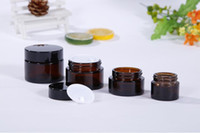Cosmetic Custom 20g Amber small Glass Jars stash containers ...