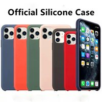 Meilleur original officiel en silicone Logo pour iPhone 7 8 Plus 11 Pro Max pour Apple iPhone X XS Max XR 6 6S plus la couverture
