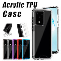 Hart Clear Case für Samsung S20 PLUS S20 Ultra-Transparent PC TPU Acryl Stoß- Fall für iPhone XS MAX 11 PRO MAX 8 PLUS XR LG Thinq