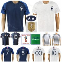 2018 World Copa Dois Estrelas Soccer 10 Zidane Jerseys 12 Henry 10 Benzema 7 Ribery 8 Payet Thuram National Team Camisas de futebol Kits