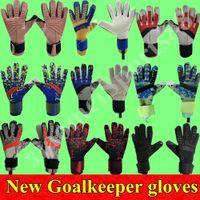19 20 Nueva portero de fútbol guantes del dedo de Protección de los hombres de Fútbol Profesional Guantes adultos de los niños más gruesos guantes de portero de fútbol envío rápido